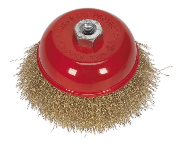 Sealey - CBC125  Brassed Steel Cup Brush