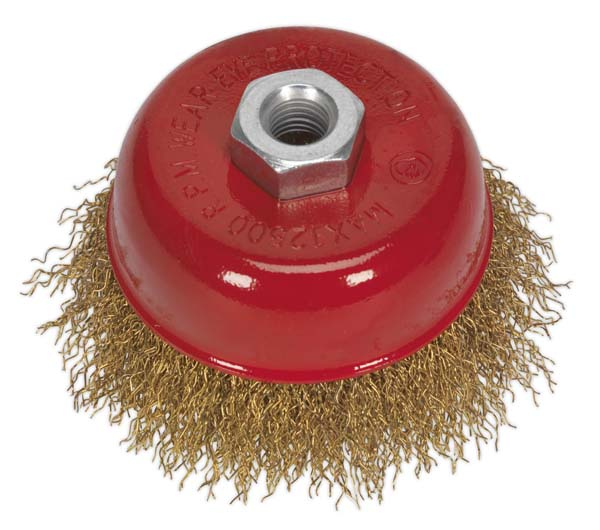 Sealey - CBC75  Brassed Steel Cup Brush