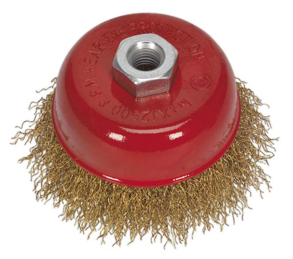 Sealey - CBC752  Brassed Steel Cup Brush