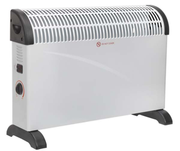 Sealey - CD2005  Convector Heater 2000W/230V 3 Heat Settings Thermostat