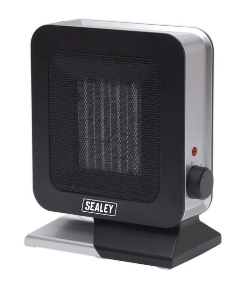 Sealey - CH2013  Ceramic Fan Heater 1400W/230V 2 Heat Settings & Thermostat