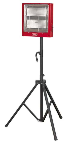 Sealey - CH2800S  Ceramic Heater with Telescopic Tripod Stand 1.4/2.8kW 230V