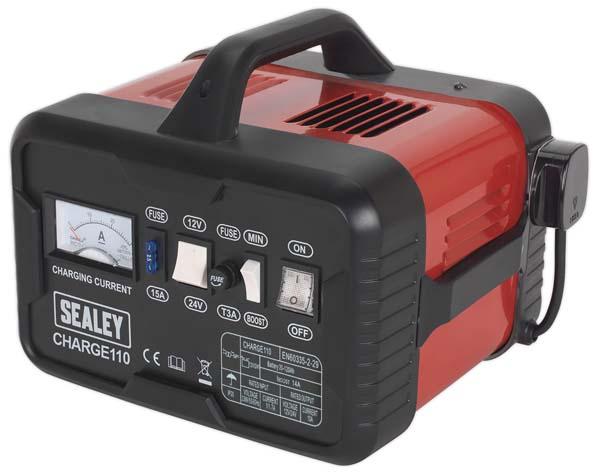 Sealey - CHARGE110  Battery Charger 14Amp 12/24V 230V