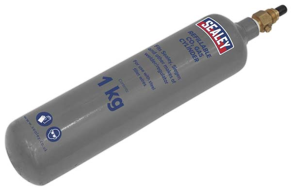 Sealey - CO2/1KG  Gas Cylinder Refillable Carbon Dioxide 1kg