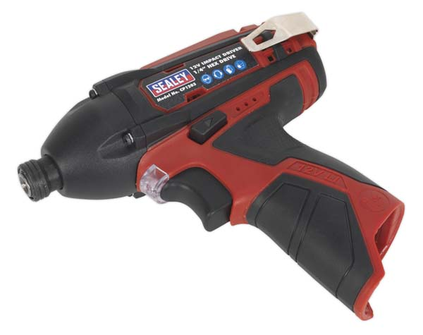 "Sealey - CP1203  Impact Driver 12V 1/4""Hex Drive 80Nm - Body Only"