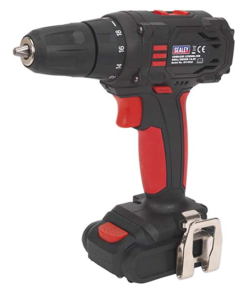 Sealey - CP14VLD  Cordless 10mm Drill/Driver 14.4V 1.3Ah Lithium-ion 2-Speed