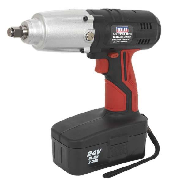 "Sealey - CP2400MH  Cordless Impact Wrench 24V 2Ah Ni-MH 1/2""Sq Drive 441Nm"