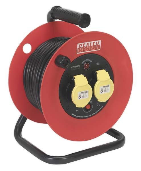 Sealey - CR12515  Cable Reel 25mtr 2 x 110V 1.5mm