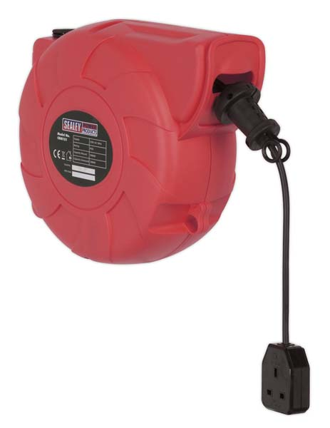 Sealey - CRM151  Cable Reel System Retractable 15mtr 1 x 230V Socket