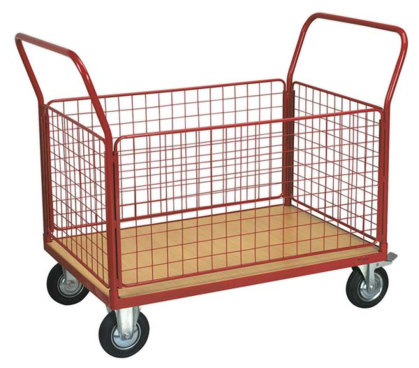Sealey - CST773  Platform Truck with 4 Removable Sides 300kg 1200 x 800mm