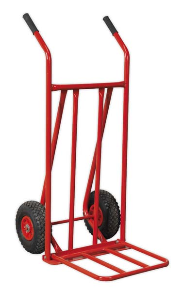 Sealey - CST800  Sack Truck with Pneumatic Tyres 150kg Foldable Toe