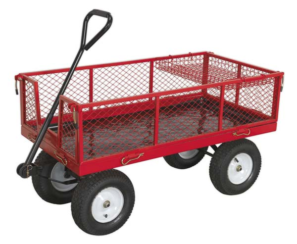 Sealey - CST806  Platform Truck with Sides Pneumatic Tyres 450kg Capacity