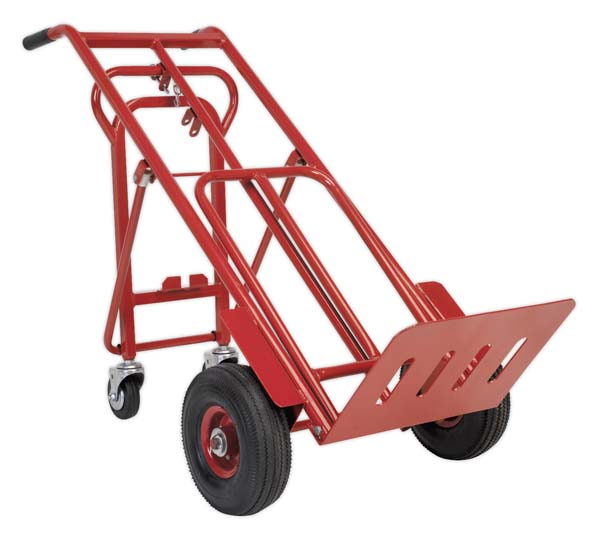 Sealey - CST989  Sack Truck 3-in-1 with Pneumatic Tyre 250kg Capacity