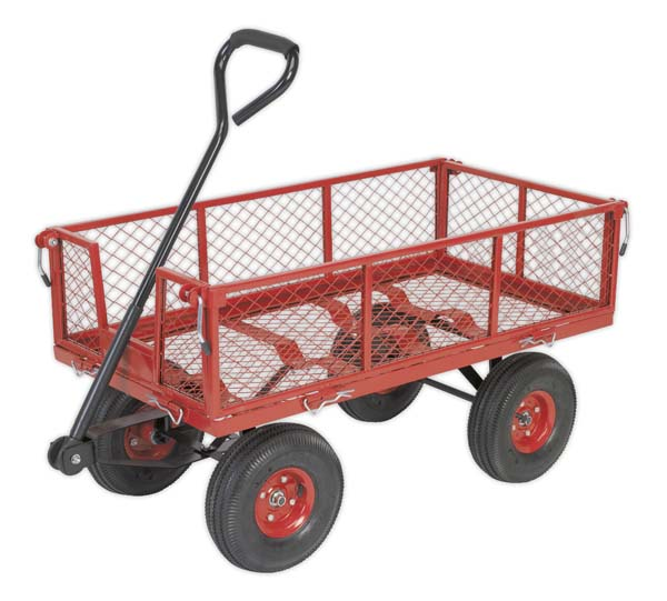 Sealey - CST997  Platform Truck with Removable Sides Pneumatic Tyres 200kg Capacity