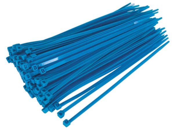 Sealey - CT20048P100B  Cable Tie 200 x 4.8mm Blue Pack of 100