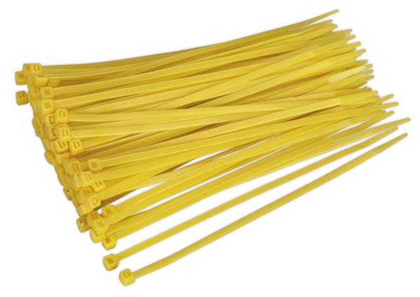 Sealey - CT20048P100Y  Cable Tie 200 x 4.8mm Yellow Pack of 100