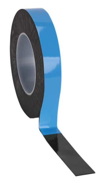 Sealey - DSTB2510  Double-Sided Adhesive Foam Tape 25mm x 10mtr Blue Backing