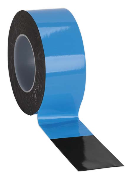 Sealey - DSTB505  Double-Sided Adhesive Foam Tape 50mm x 5mtr Blue Backing