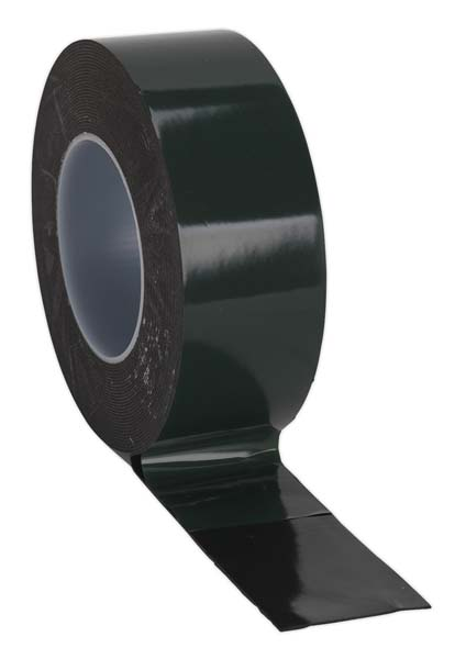 Sealey - DSTG5010  Double-Sided Adhesive Foam Tape 50mm x 10mtr Green Backing