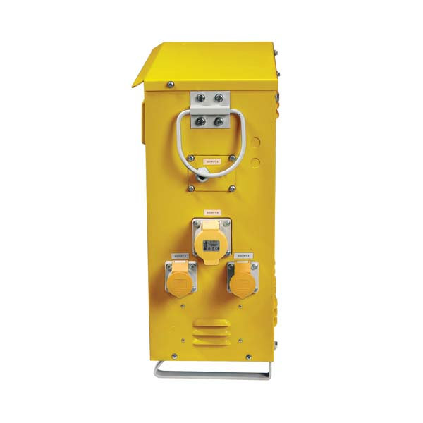 Defender 3 Phase 7.5KVA Site Transformer 110V incl 4X 16A 2X 32A, Lighting outlets