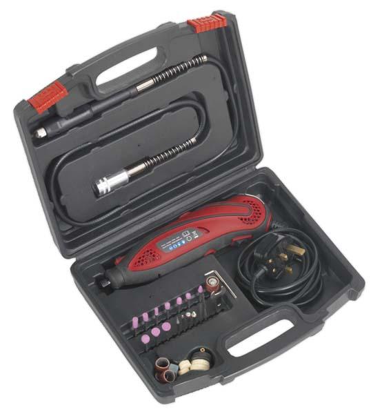 Sealey - E540  Multipurpose Rotary Tool & Engraver Kit 40pc 230V