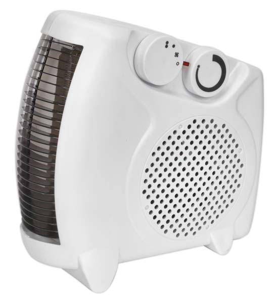 Sealey - FH2010  Fan Heater 2000W/230V 2 Heat Settings & Thermostat