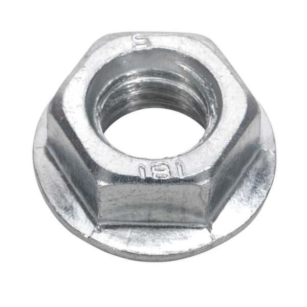 Sealey - FN12  Flange Nut Serrated M12 Zinc DIN 6923 Pack of 50