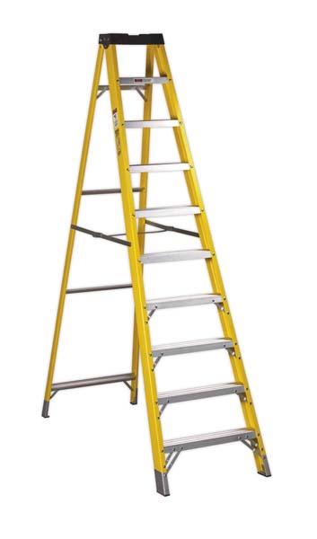 Sealey - FSL10  Fibreglass Step Ladder 9-Tread EN 131
