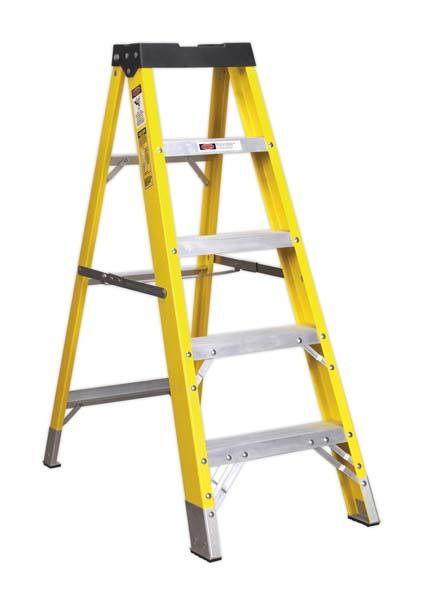 Sealey - FSL5  Fibreglass Step Ladder 4-Tread EN 131