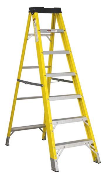 Sealey - FSL7  Fibreglass Step Ladder 6-Tread EN 131