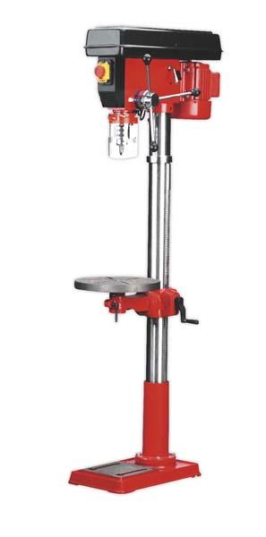 Sealey - GDM200F  Pillar Drill Floor 16-Speed 1630mm Height 650W/230V