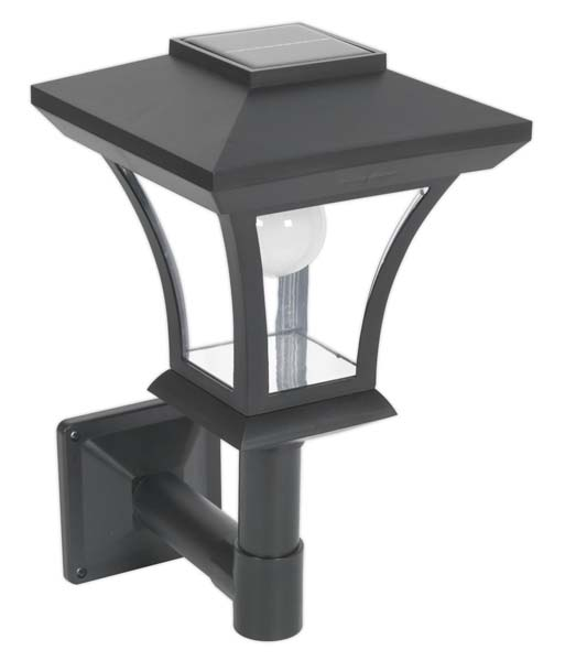 Sealey - GL61  Solar Powered LED Garden Lamp Wall Mounting
