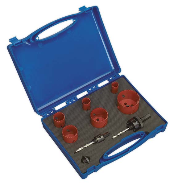 Sealey - HKP9  Hole-Saw Kit Plumber's 9pc