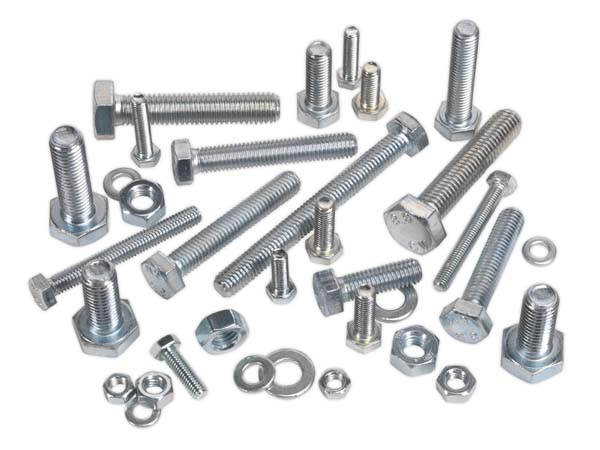 Sealey - HSSM12  Setscrew & Nut Assortment 100pc M12