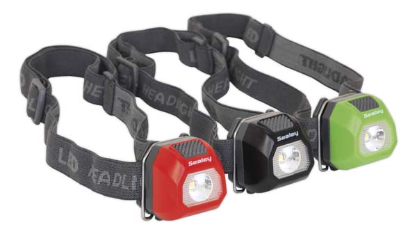 Sealey - HT01DB  Head Torch 0.5W SMD Display Box of 12