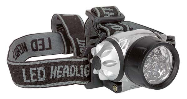 Sealey - HT07LED  Head Torch 12 LED 3 x AAA Cell