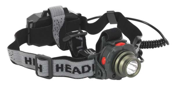 Sealey - HT106LED  Head Torch 3W CREE LED Auto Sensor Rechargeable