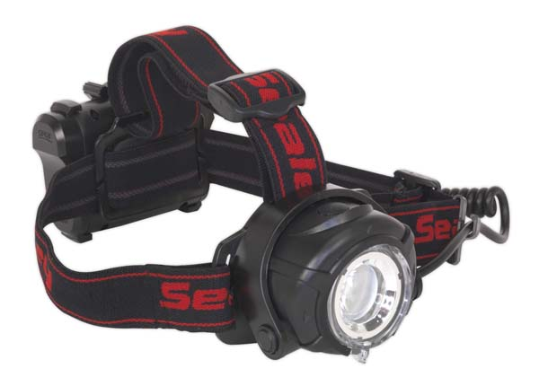 Sealey - HT107LED  Head Torch 5W CREE XPG LED with Adjustable Focus & Brightness 3 x AA Cell