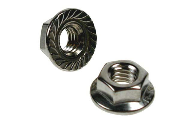 M10 HEX FLANGE NUTS A2 - SERRATED     DIN 6923