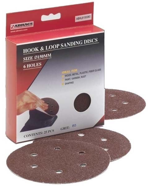 Abracs Hook & Loop Disc 150mm x 40g - 6 Holes