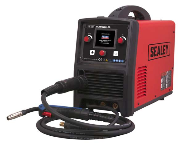 Sealey - INVMIG200LCD  Inverter Welder MIG, TIG & MMA 200Amp with LCD Screen
