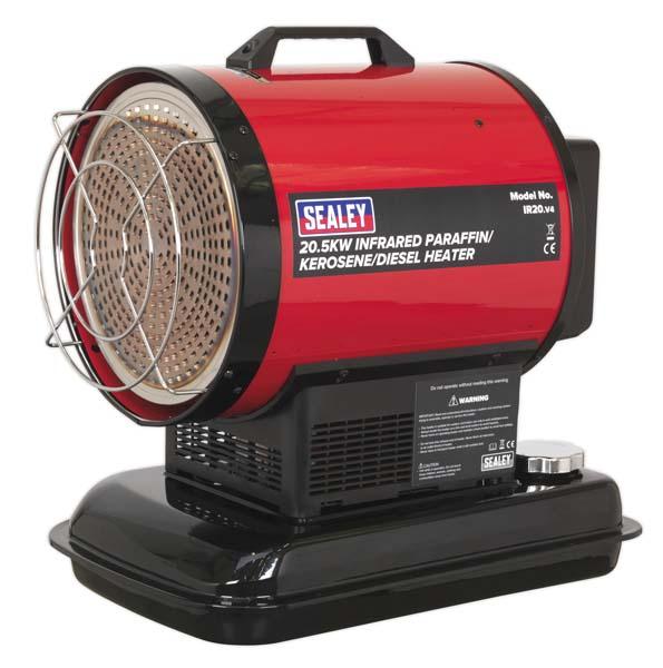 Sealey - IR20  Infrared Paraffin/Kerosene/Diesel Heater 20.5kW 230V