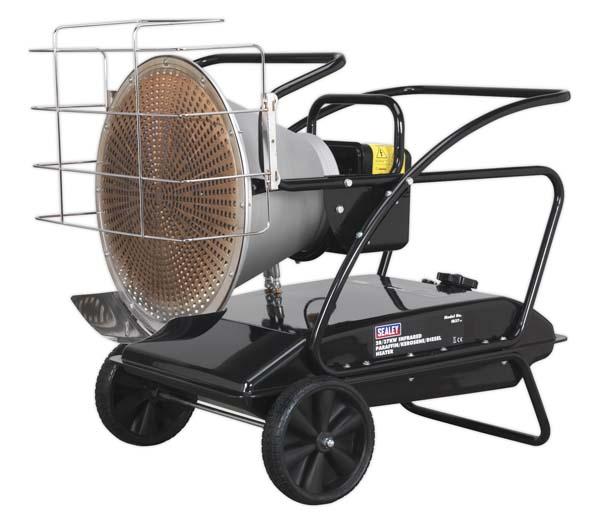 Sealey - IR37  Infrared Paraffin/Kerosene/Diesel Heater 28/37kW 230V