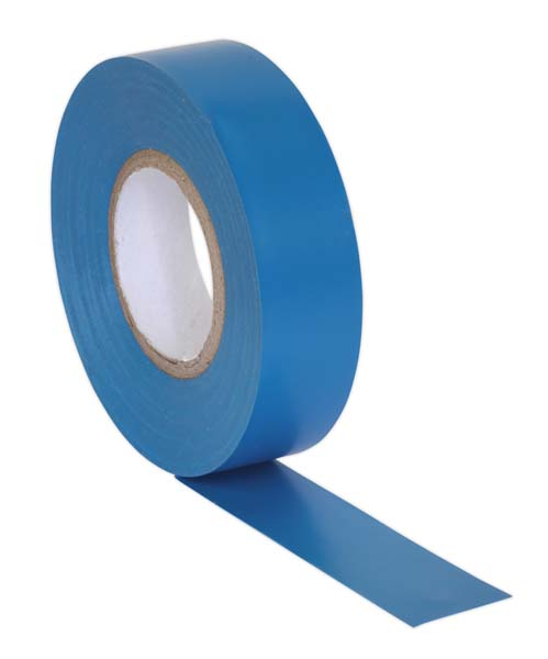 Sealey - ITBLU10  PVC Insulating Tape 19mm x 20mtr Blue Pack of 10