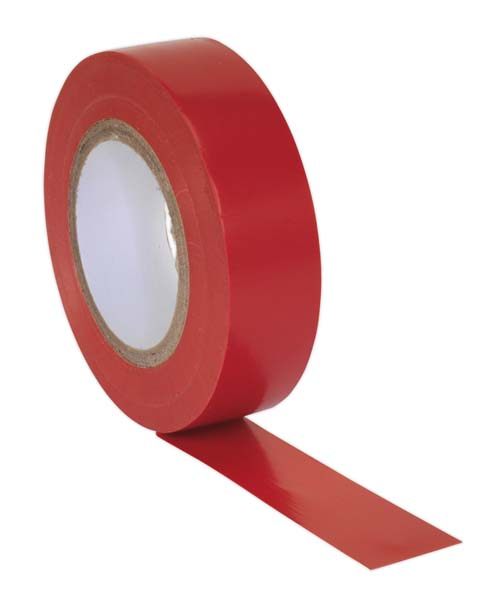Sealey - ITRED10  PVC Insulating Tape 19mm x 20mtr Red Pack of 10