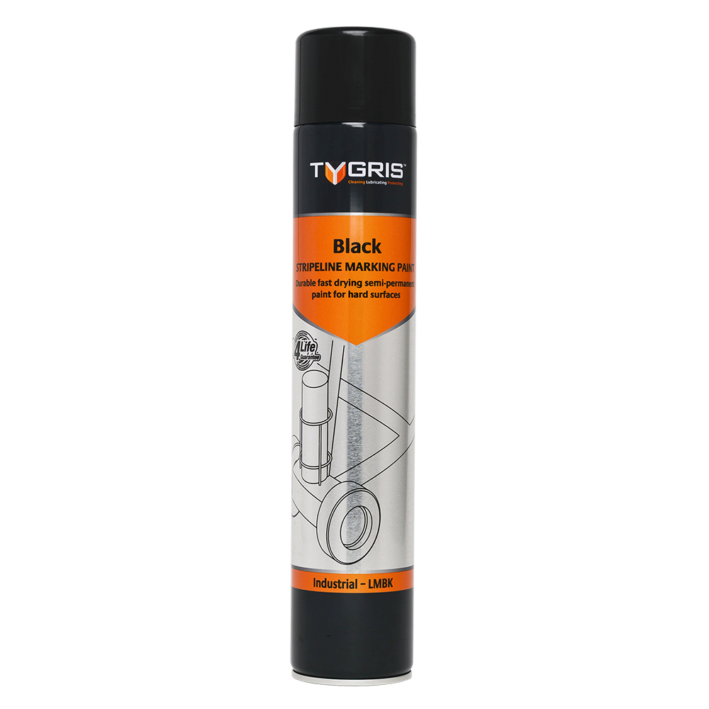 TYGRIS  LMBK  Stripeline Line Marking Paint 750ml Black