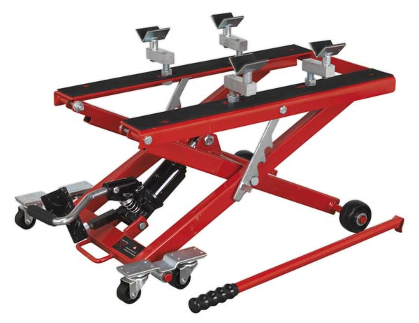 Sealey - MC4500  Motorcycle & Quad Scissor Lift 500kg Capacity Hydraulic