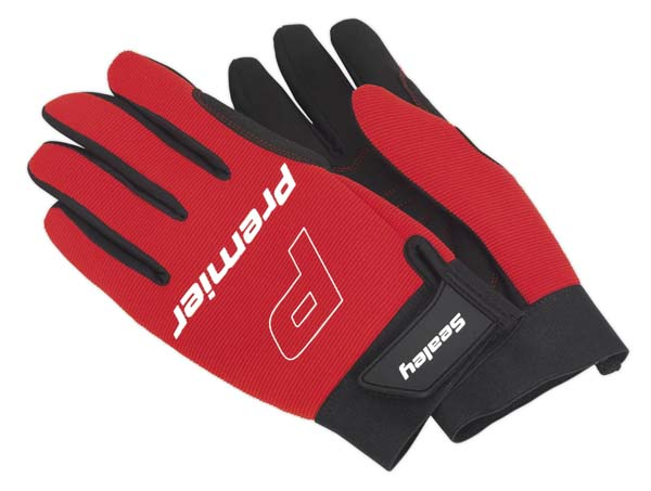 Sealey - MG796L  Mechanic's Gloves Padded Palm - Large