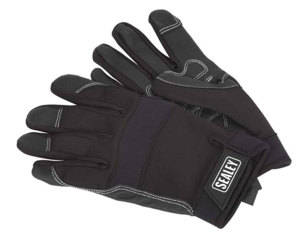 Sealey - MG798L  Mechanic's Gloves Light Palm Tactouch - Large