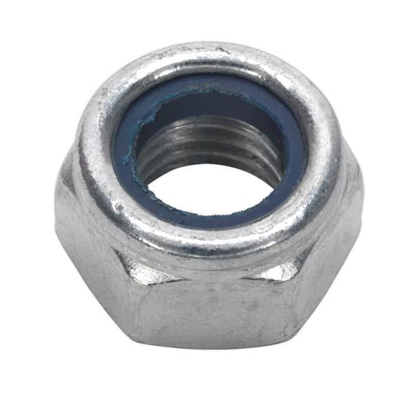 Sealey - NLN14  Nylon Lock Nut M14 Zinc DIN 982 Pack of 25